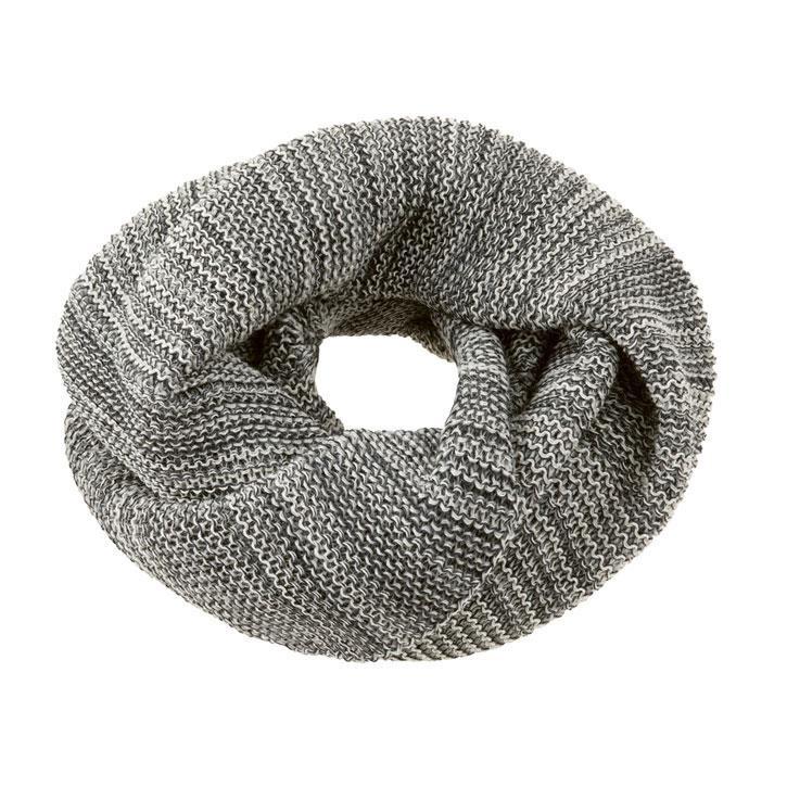 Disana Loop-Schal anthrazit/grau 100% kbT Schurwolle