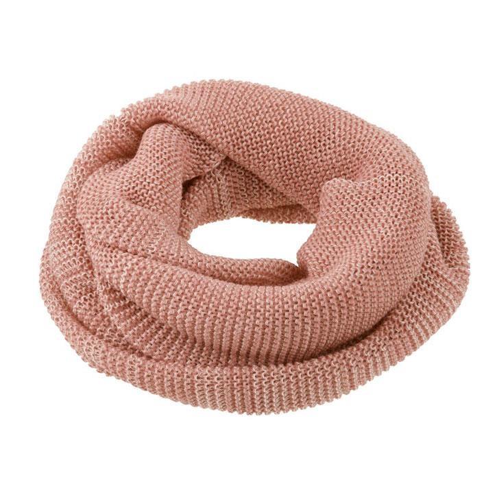 Disana Loop-Schal rose/natur 100% kbT Schurwolle