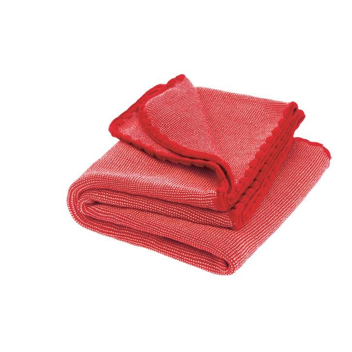 Disana Melange-Babydecke Kollektion 18/19 100x80 cm rot-rose 100% bio-Schurwolle
