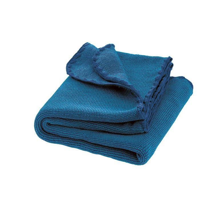 Disana Melange-Babydecke marine/blau 100x80 cm 100% kbT Schurwolle