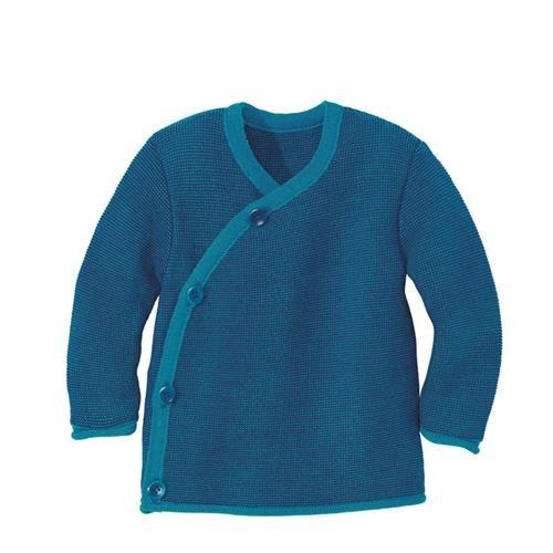 Disana Melange-Jacke blau-marine 100% bio-Schurwolle