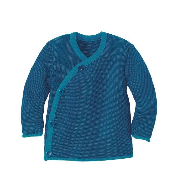 Disana Melange-Jacke Kollektion 18/19, blau-marine 100% bio-Schurwolle