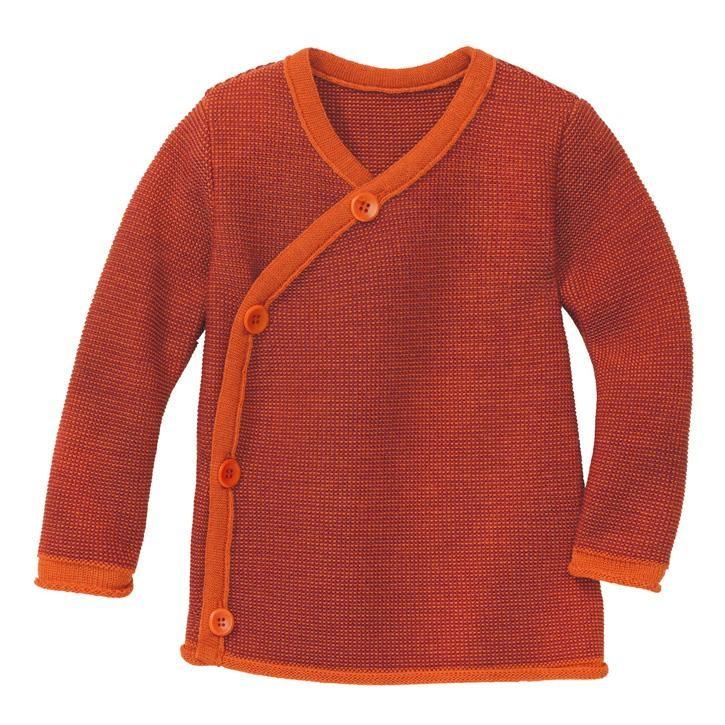 Disana Melange-Jacke orange-bordeaux
