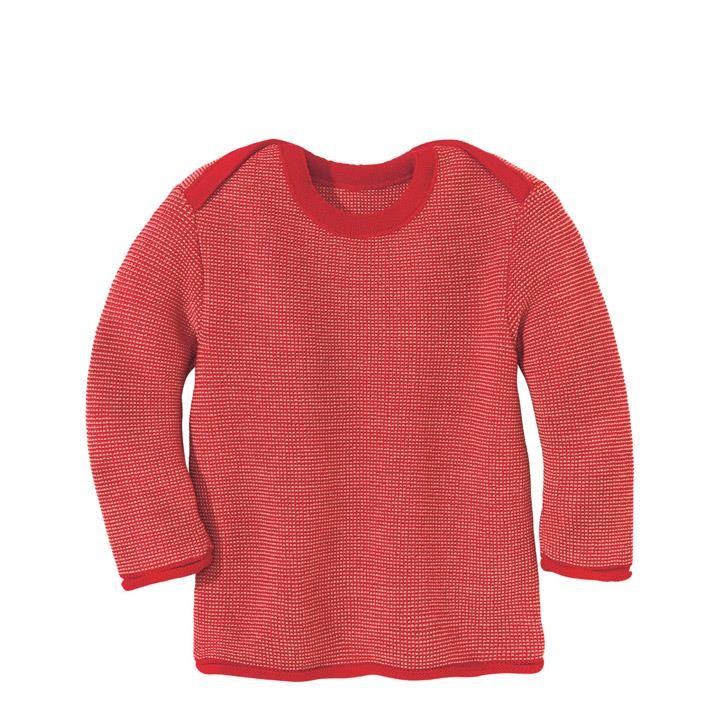 Disana Melange-Pullover Kollektion 18/19, rot-rose 100% bio-Schurwolle