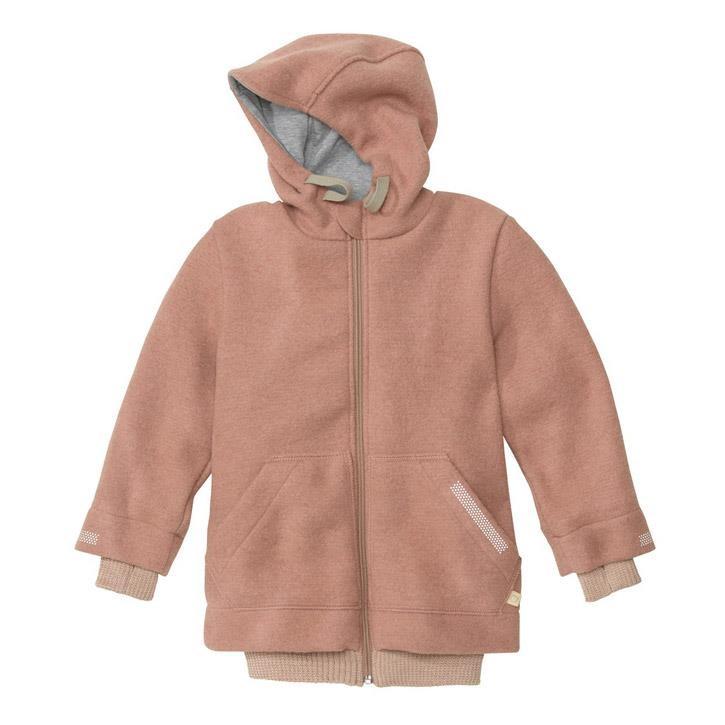Disana Outdoor-Jacke rose 100% kbT Schurwolle/Futter 100% bkA Baumwolle
