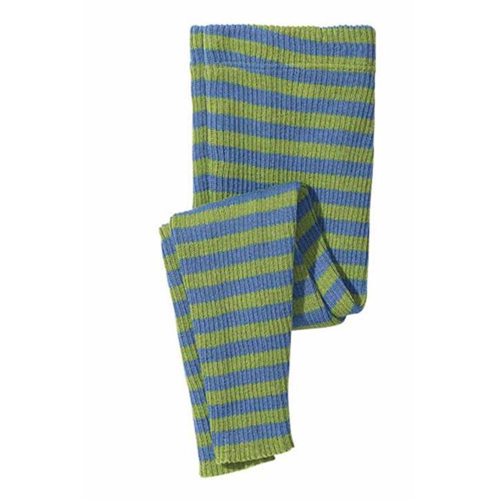 Disana Ringel-Leggings 110/116 / grün/blau