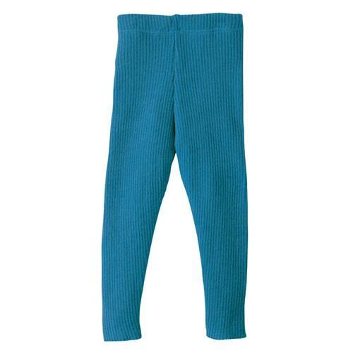 Disana Strick-Leggings 110/116 blau 100% bio-Schurwolle