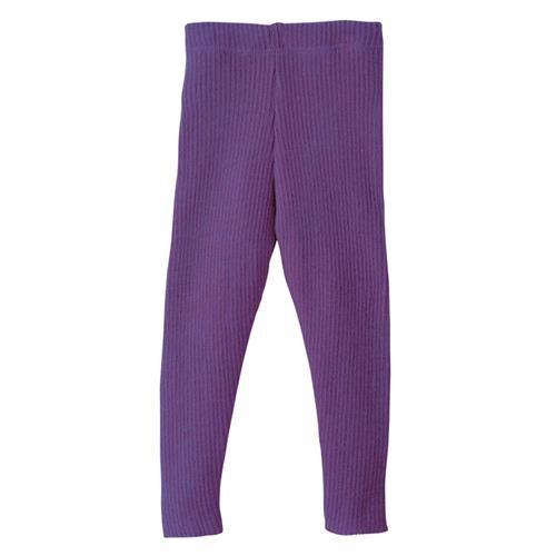 Disana Strick-Leggings 110/116 pflaume 100% bio-Schurwolle