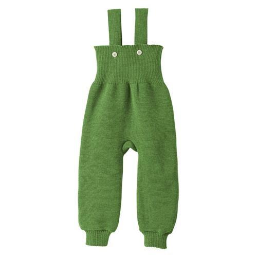 Disana Strick-Trägerhose grün 100% bio-Schurwolle