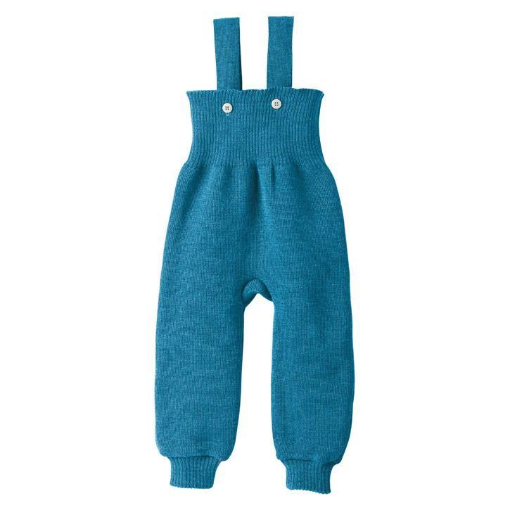 Disana Strick-Trägerhose Kollektion 18/19 blau 100% bio-Schurwolle