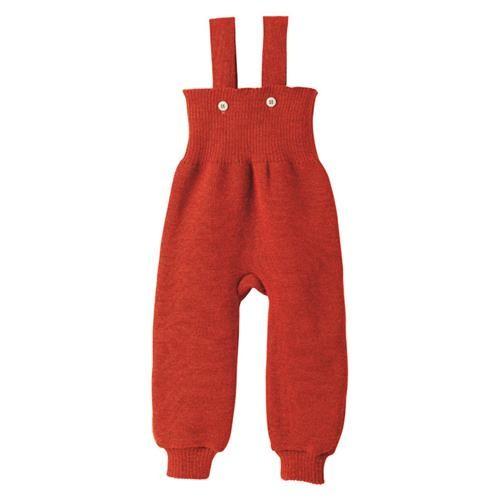Disana Strick-Trägerhose rot 100% bio-Schurwolle