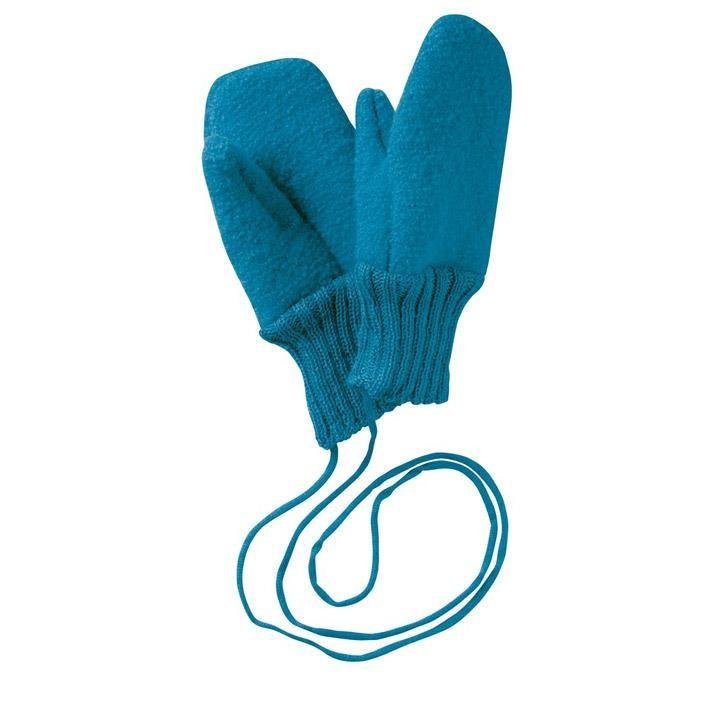 Disana Walk-Handschuhe blau 100% kbT Schurwolle