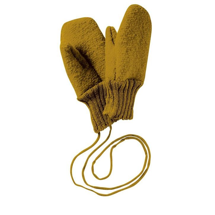Disana Walk-Handschuhe gold 100% kbT Schurwolle