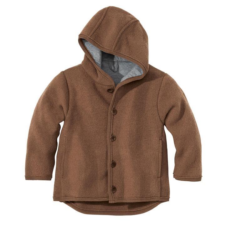 Disana Walk-Jacke 110/116 haselnuss 100% bio-Schurwolle/ Futter 100% bio-Baumwolle