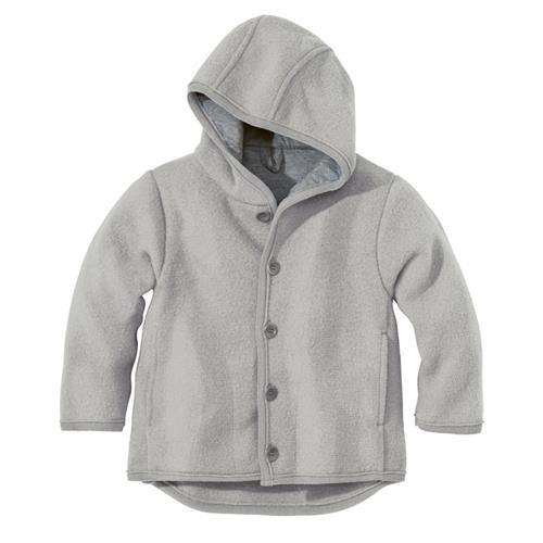 Disana Walk-Jacke 62/68 grau 100% bio-Schurwolle/ Futter 100% bio-Baumwolle