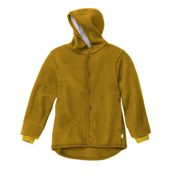 Disana Walk-Jacke gold 100% kbT Schurwolle/Futter 100% bkA Baumwolle