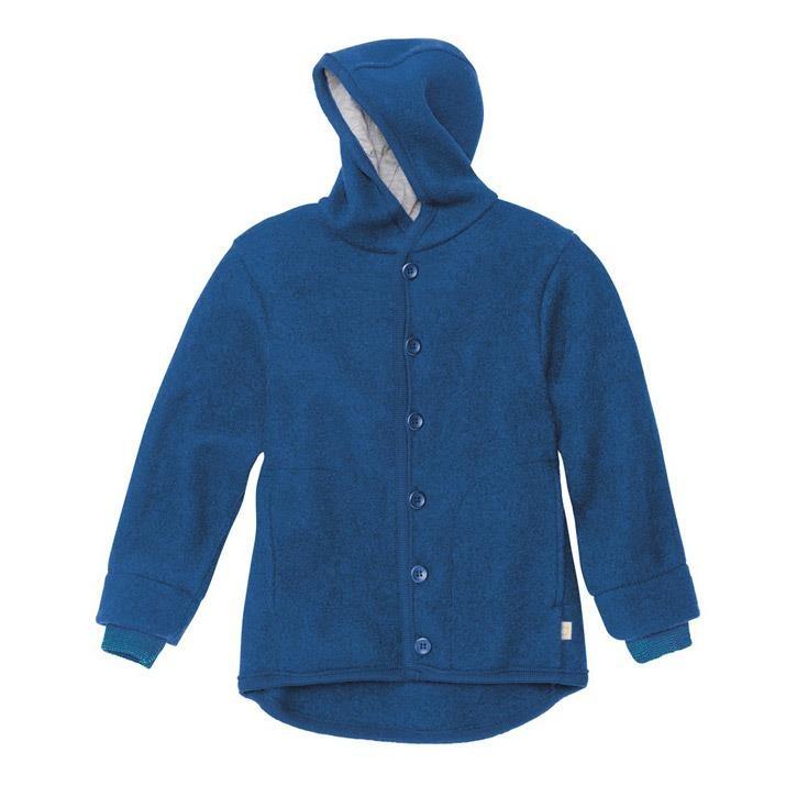 Disana Walk-Jacke marine 100% kbT Schurwolle/Futter 100% bkA Baumwolle