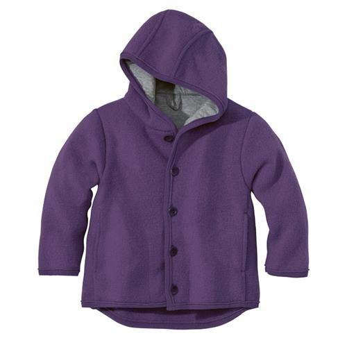 Disana Walk-Jacke pflaume 100% bio-Schurwolle/ Futter 100% bio-Baumwolle