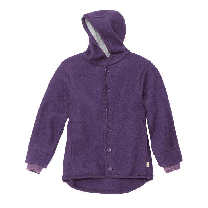 Disana Walk-Jacke pflaume 100% kbT Schurwolle/Futter 100% bkA Baumwolle
