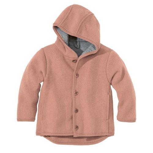 Disana Walk-Jacke rose 100% bio-Schurwolle/ Futter 100% bio-Baumwolle