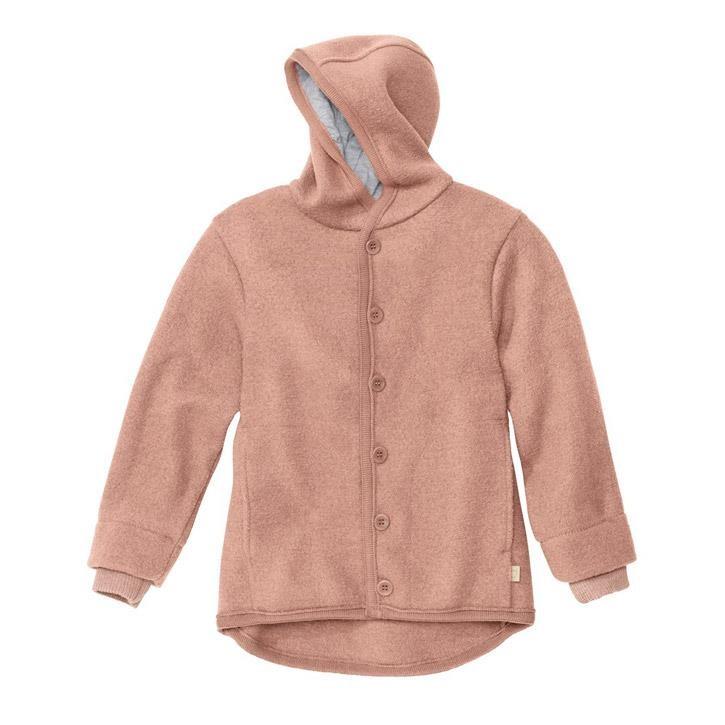 Disana Walk-Jacke rose 100% kbT Schurwolle/Futter 100% bkA Baumwolle