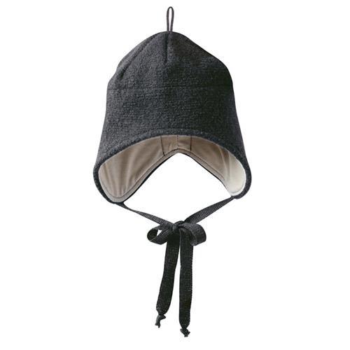 Disana Walk-Mütze 1 anthrazit 100% bio-Schurwolle/ Futter 100% bio-Baumwolle