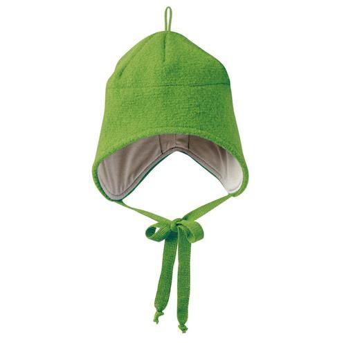 Disana Walk-Mütze 1 grün 100% bio-Schurwolle/ Futter 100% bio-Baumwolle