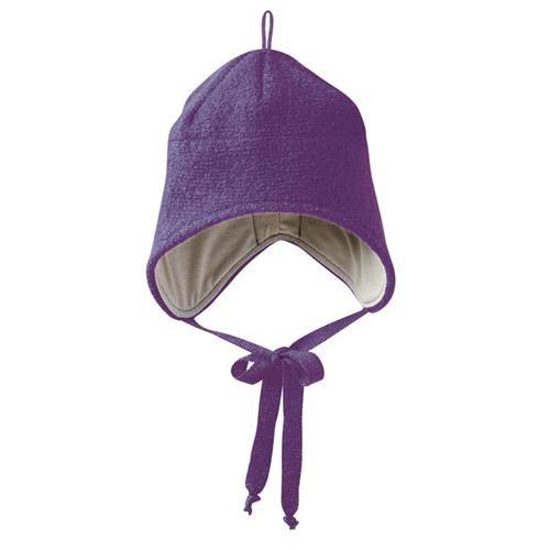 Disana Walk-Mütze 1 pflaume 100% bio-Schurwolle/ Futter 100% bio-Baumwolle