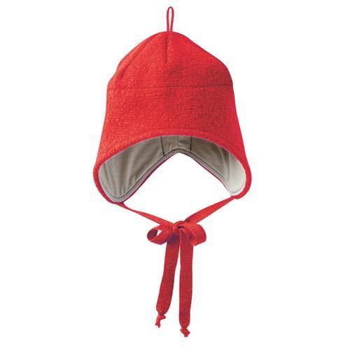 Disana Walk-Mütze 1 rot 100% bio-Schurwolle/ Futter 100% bio-Baumwolle