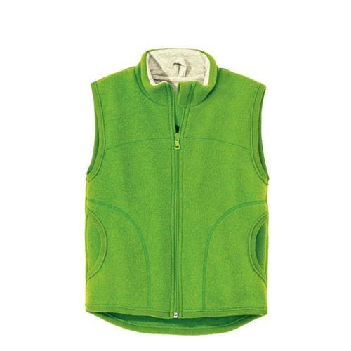 Disana Walk-Weste grün 100% bio-Schurwolle/ Futter 100% bio-Baumwolle