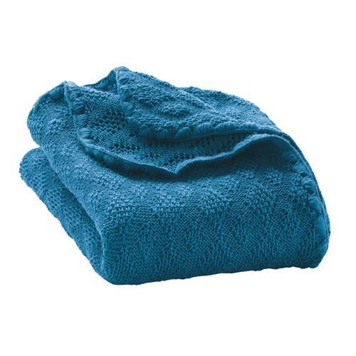 Disana Woll-Babydecke 100x80 cm blau 100% bio-Schurwolle