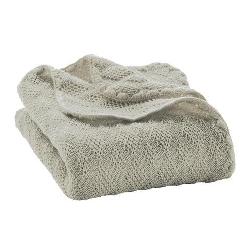 Disana Woll-Babydecke 100x80 cm grau 100% bio-Schurwolle