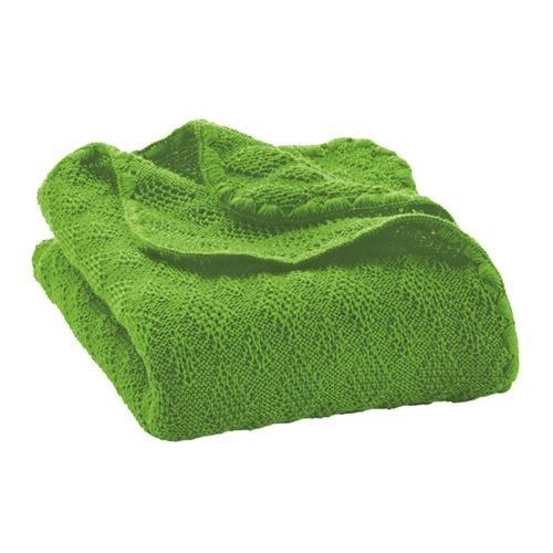 Disana Woll-Babydecke 100x80 cm grün 100% bio-Schurwolle