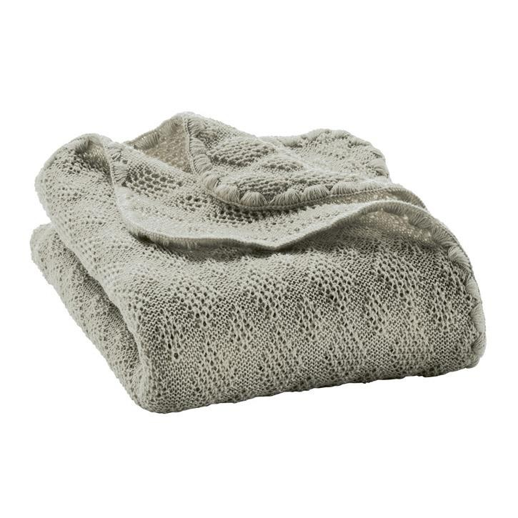 Disana Woll-Babydecke grau 100x80 cm 100% kbT Schurwolle