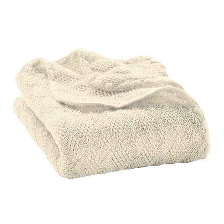 Disana Woll-Babydecke natur 100x80 cm 100% kbT Schurwolle