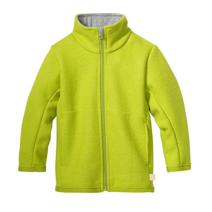 Disana Zipper-Jacke apfelgrün 100% Bio-Schurwolle