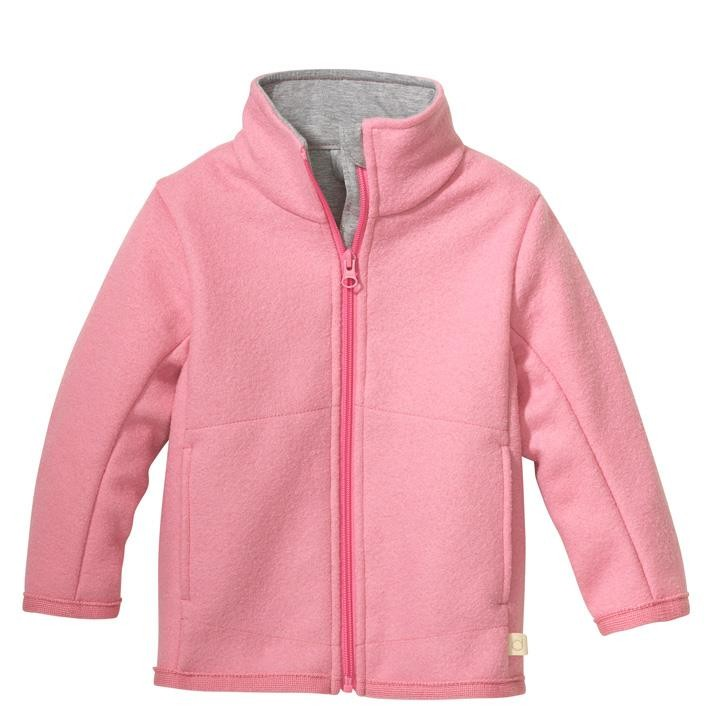 Disana Zipper-Jacke rosa 100% Bio-Schurwolle