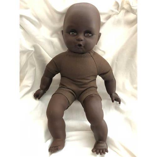 Emil Schwenk Puppen 32cm (farbig) nackt gefüllt mit Bioland Wolle