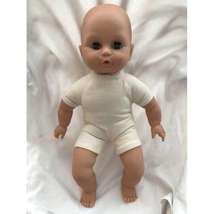 Emil Schwenk Puppen 32cm (hell) nackt gefüllt mit Bioland Wolle