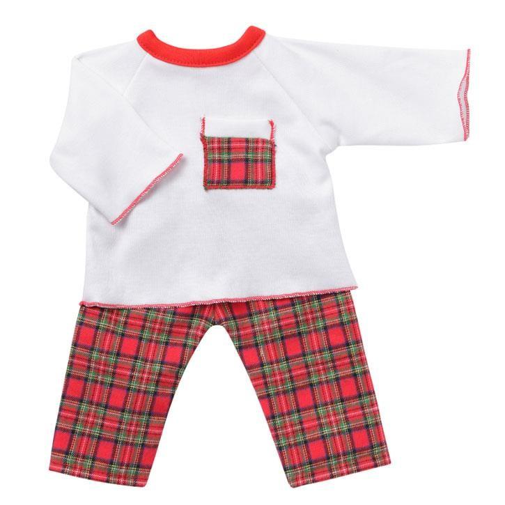 Emil Schwenk Puppen Pyjama (Karo), Gr. 32