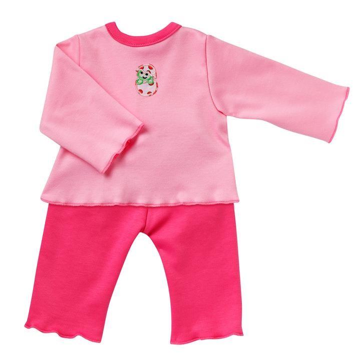 Emil Schwenk Puppen Pyjama (pink), Gr. 50
