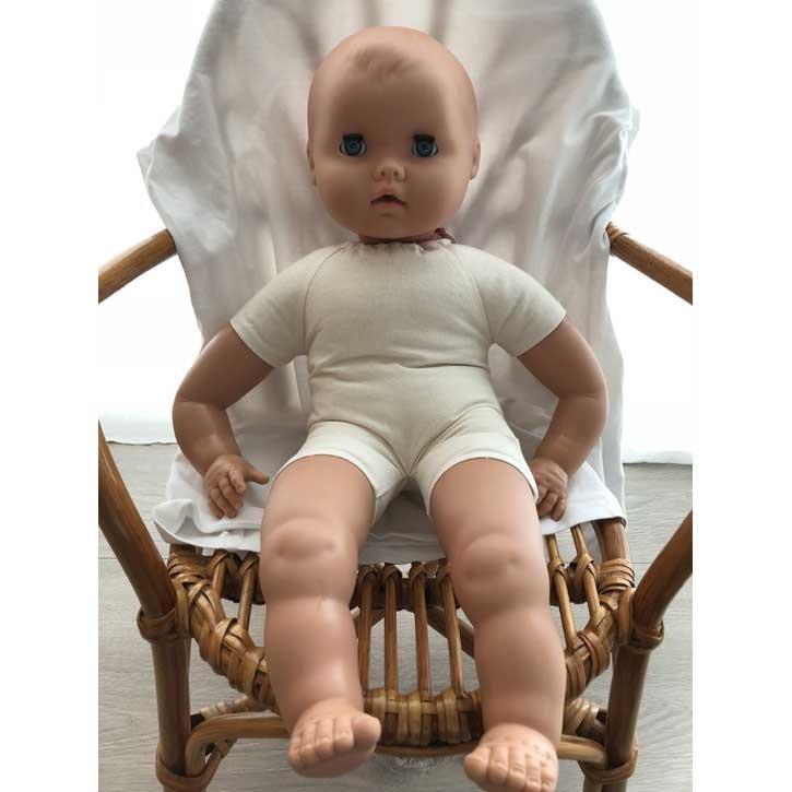 Emil Schwenk Puppen Weichbaby mit Bioland Wolle gefüllt 50cm nackt