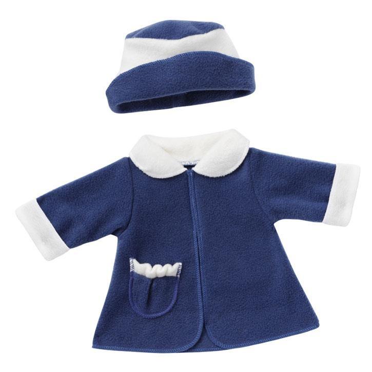 Emil Schwenk Puppen Wintermantel (Blau) + Mütze, Gr.50
