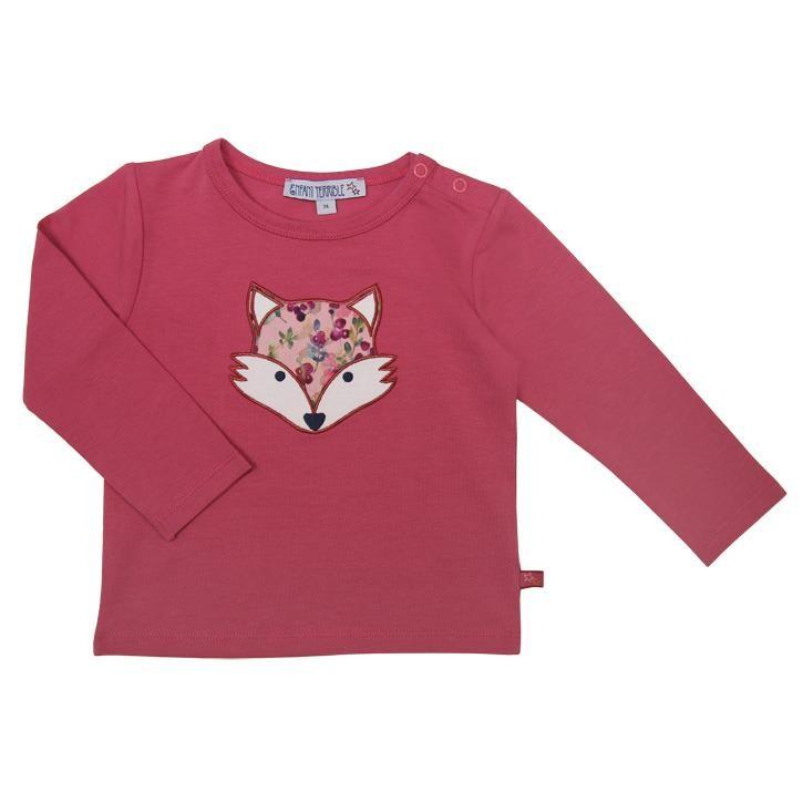 Enfant Terrible Baby T-Shirt mit Fuchsapplikation erika