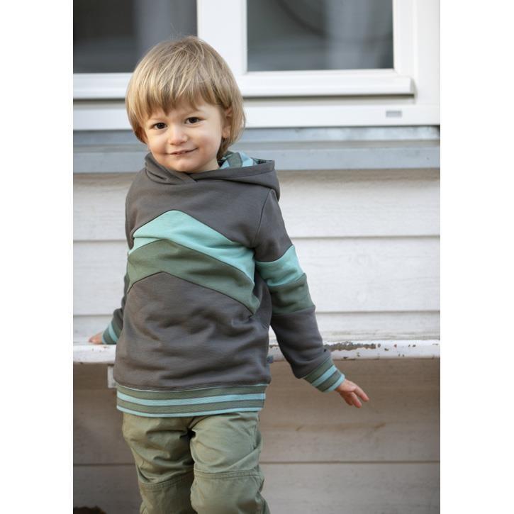 Enfant Terrible Hoodie mit Colourblocking schiefer-waldgrün