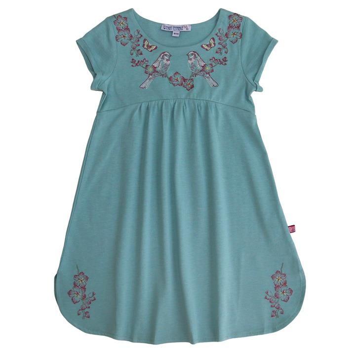 Enfant Terrible Jersey Kleid Stickerei,jade