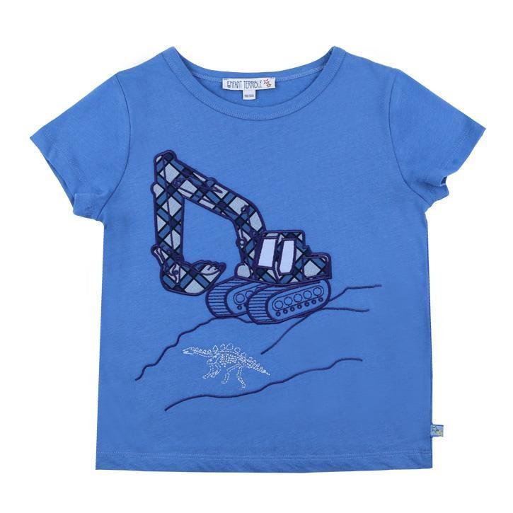 Enfant Terrible Kurzarmshirt mit Baggerdruck 86/92 blue