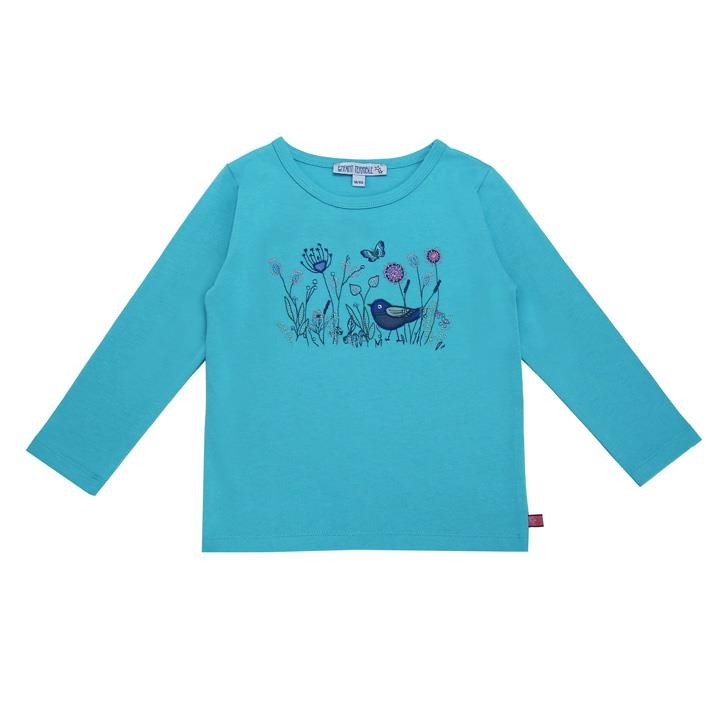 Enfant Terrible Shirt mit Blumenwiese türkis