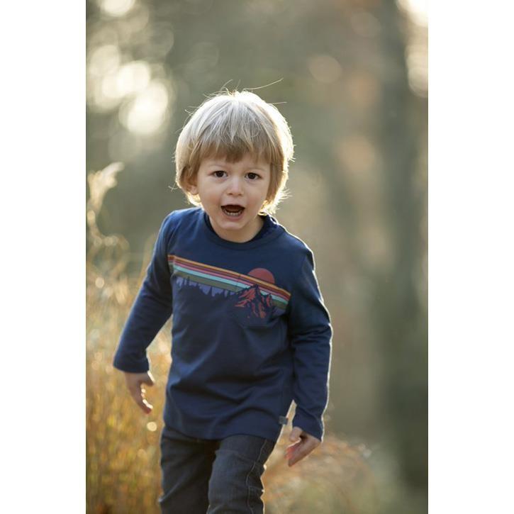 Enfant Terrible Shirt mit Gebirgedruck tintenblau