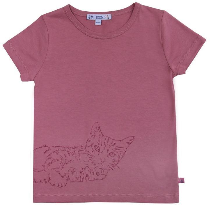 Enfant Terrible Shirt mit Katze altrosa